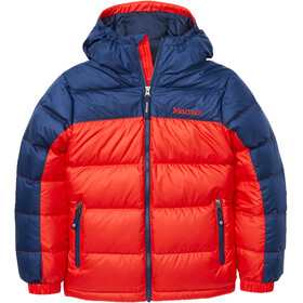 Marmot Guides Down Hoody Jacket Barn victory red/arctic navy